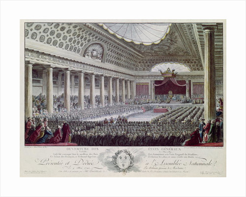 Estates General Posters Prints. Opening Of The Estates General At Versailles 5th May 1789 By Isidore Stanislas Helman. Wiring. 1789 Estates General Diagram At Scoala.co