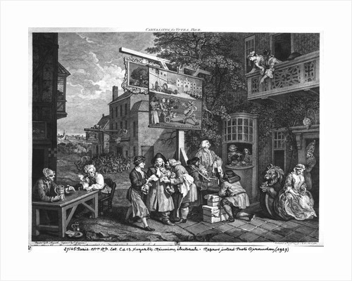 The Election II; Canvassing for Votes, engraved by Charles Grignion by William Hogarth