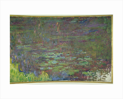Waterlilies at Sunset, detail from the right hand side by Claude Monet