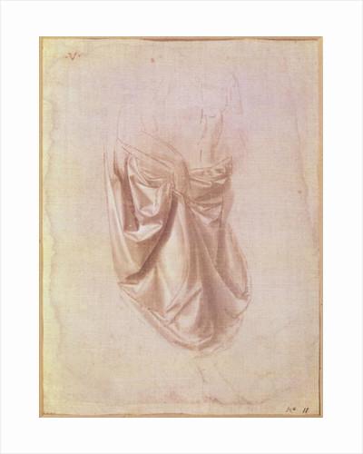 Drapery study by Leonardo da Vinci
