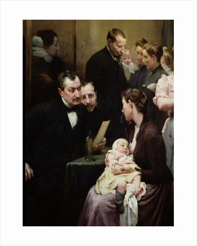 The Drop of Milk in Belleville: Doctor Variot's Surgery, the Consultation by Henri Jules Jean Geoffroy
