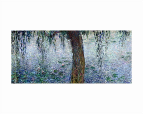 Waterlilies: Morning with Weeping Willows, detail of the right section by Claude Monet