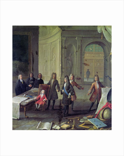 A Lesson being given to the Young Louis XV by French School