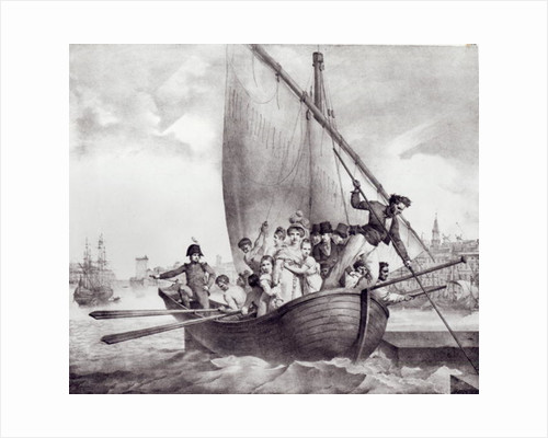 Bonaparte family arriving in Toulon by Jean Baptiste Mauzaisse