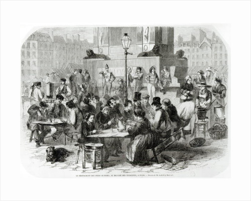 The Restaurant of wet feet, at the Marche des Innocents in Paris by Godefroy Durand