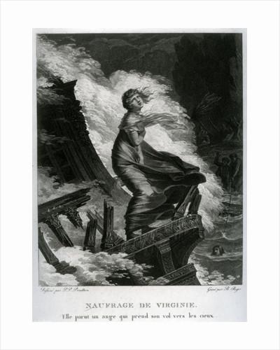 Shipwreck of Virginie by Pierre-Paul Prud'hon