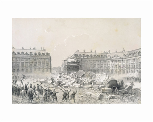 The Fall of the Vendome Column during the Commune by Louis Remy Sabatier