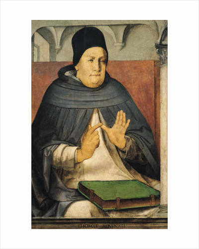 Portrait of St. Thomas Aquinas by P. Joos van Gent and Berruguete