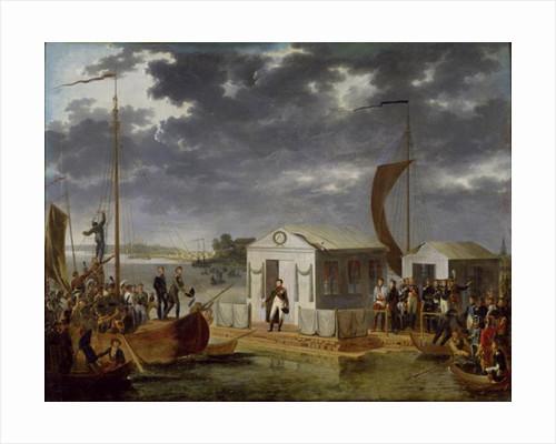 Meeting between Napoleon Bonaparte and Alexander I of Russia at Niemen by Adolphe Roehn