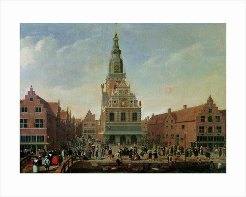 View of the Weighhouse and the Cheese Market at Alkmaar by Dutch School