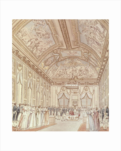 The Civil Ceremony of the Marriage of Napoleon Bonaparte and Marie-Louise in the Great Hall of the Chateau de Saint-Cloud by C. and Fontaine