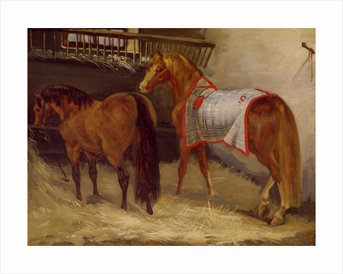 Horses in the Stables by Theodore Gericault