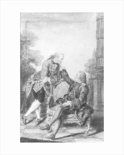 Denis Diderot and Melchior, baron de Grimm by Carmontelle