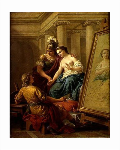 Apelles in Love with the Mistress of Alexander by Louis Jean Francois I Lagrenee
