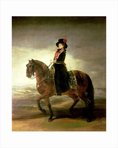Equestrian portrait of Queen Maria Luisa, wife of King Charles IV of Spain by Francisco Jose de Goya y Lucientes