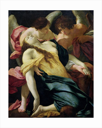 Mary Magdalene Carried by Angels by Simon Vouet