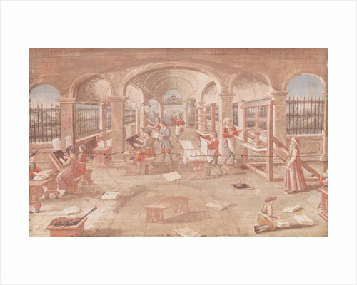 Interior of a Printing Works in the 16th Century by French School