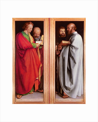 St. John with St. Peter and St. Paul with St. Mark by Albrecht Dürer or Duerer
