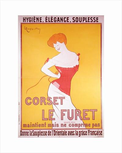 Advertisement for 'Le Furet' corsets by Leonetto Cappiello