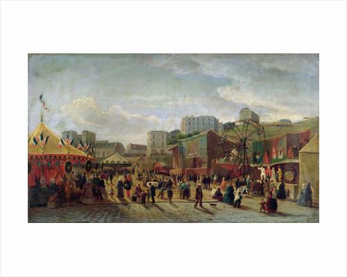 A Fair, Place Saint-Pierre, Montmartre in 1861 by Hubert
