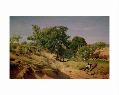 Rural Countryside near Lasalle by Alexandre Eugene Castelnau