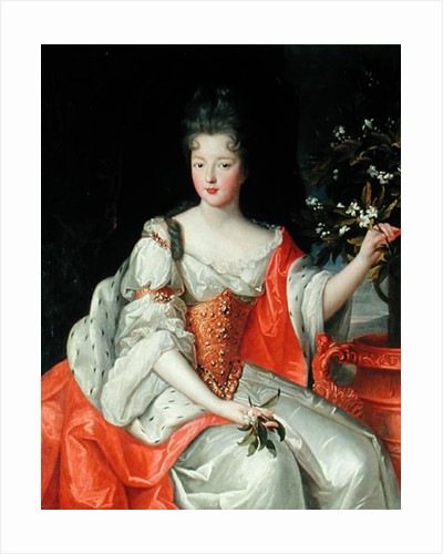 Portrait of Louise-Francoise de Bourbon late 17th century by French School