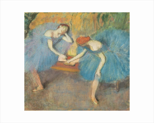 Two Dancers at Rest or, Dancers in Blue by Edgar Degas