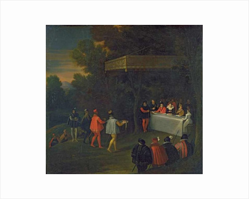 A Meal served to Henri IV Marie de Medicis Elisabeth de France and the Dauphin Louis in the Forest of Fontainebleau by Nicolas Labbe