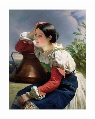 Young Italian at the Well by Franz Xaver Winterhalter