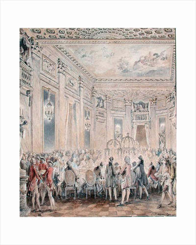 Feast given by Madame du Barry for Louis XV on 2nd September 1771 at the inauguration of the Pavillon at Louveciennes by Jean Michel the Younger Moreau