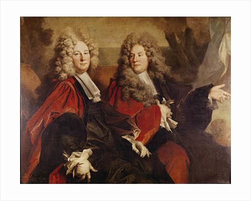 Portrait of Alderman Hugues Desnots and Alderman Bouhet by Nicolas de Largilliere