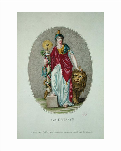 Reason, engraved by Carre by Claude Louis Desrais