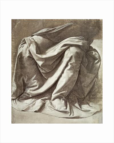 Drapery study for a Seated Figure by Leonardo da Vinci