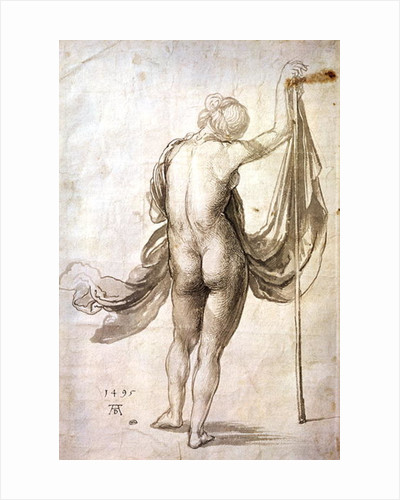 Nude Study or, Nude Female from the Back by Albrecht Dürer or Duerer