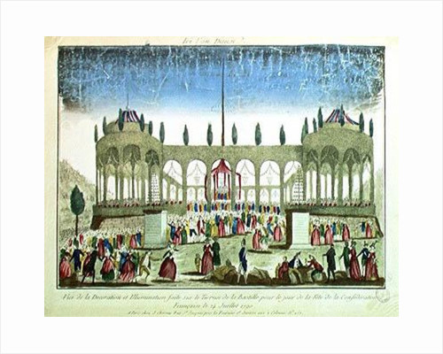 Decoration and Illumination of the Bastille for the Festival of the Federation, 14th July 1790 by French School