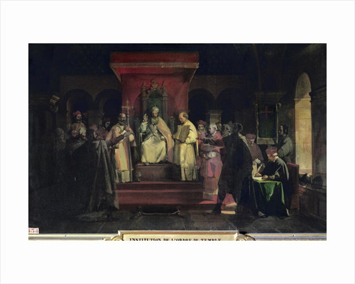 Institution of the Order of the Templars in 1128 by Francois-Marius Granet