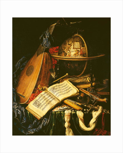 Still Life with Musical Instruments by Flemish School