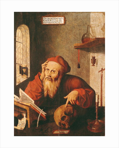 St. Jerome, after a painting by Quentin Massys or Metsys by Gautard de Pezenas