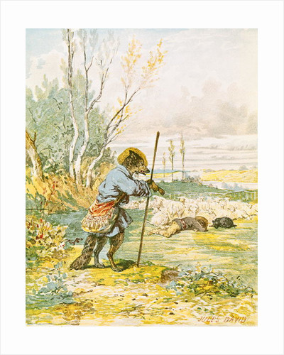 The Wolf as a Shepherd by Jules David