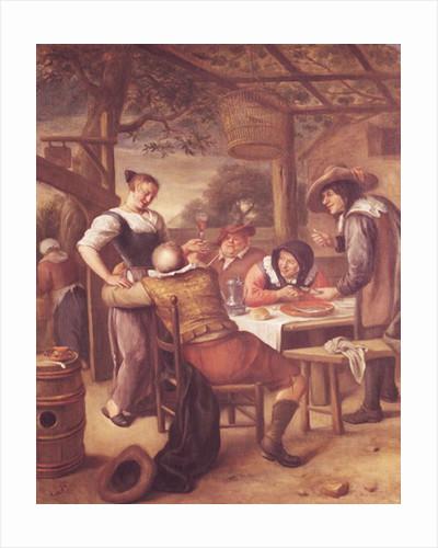 Joyful Company under a Crib by Jan Havicksz. Steen