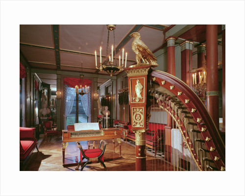 Interior of Empress Josephine's music room by French School