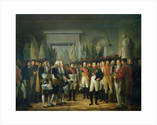 Napoleon I Receiving the Deputies of the Conservative Senate by Rene Theodore Berthon