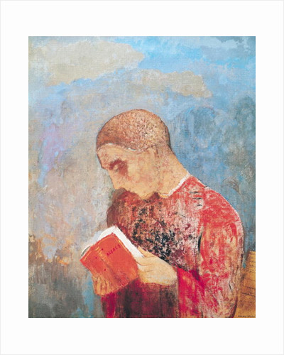 Alsace or, Monk Reading by Odilon Redon