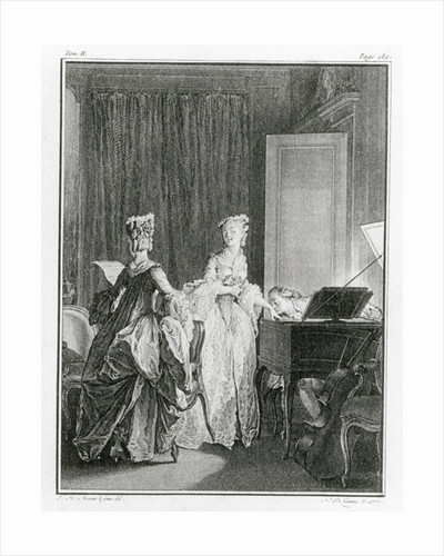 The Harpsichord by Jean Michel the Younger Moreau