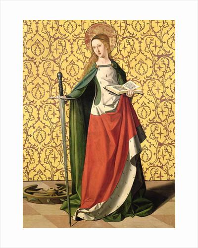 St. Catherine of Alexandria by Josse Lieferinxe