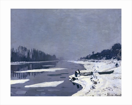 Ice floes on the Seine at Bougival by Claude Monet