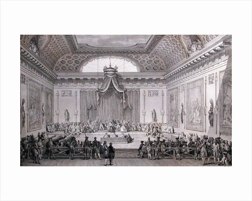 Assemblee des Notables Presided over by Louis XVI by Jean Michel the Younger Moreau