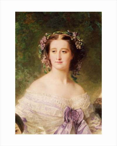 Empress Eugenie and her Ladies in Waiting, detail of the Empress by Franz Xaver Winterhalter