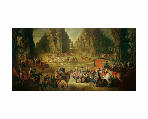 Meeting for the Puits-du-Roi Hunt at Compiegne by Jean-Baptiste Oudry
