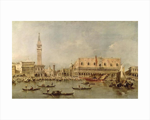 The Piazzetta and the Palazzo Ducale from the Basin of San Marco by Francesco Guardi